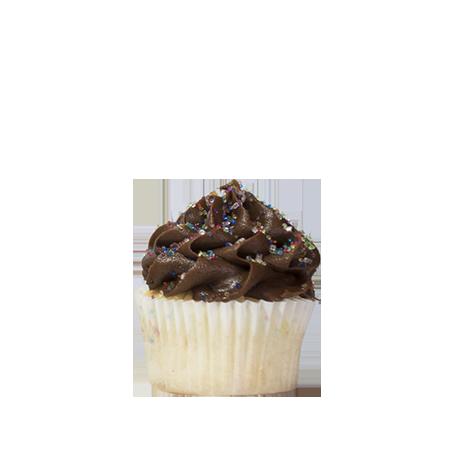 mini chocolate birthday cupcake