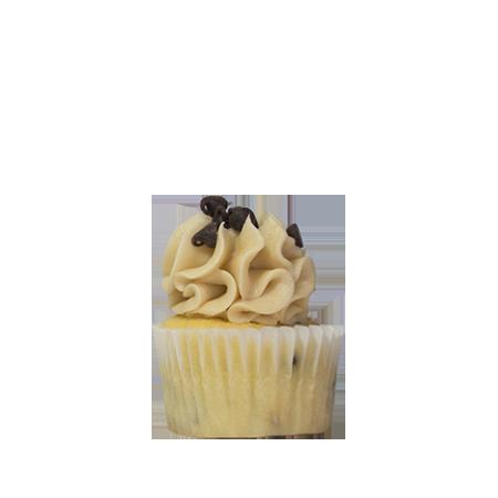 mini cookie dough cupcake
