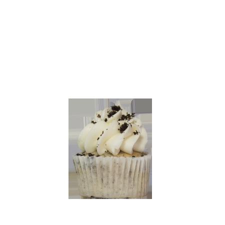 mini cookies and creme cupcake