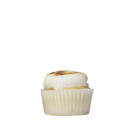 mini creme brulee cupcake