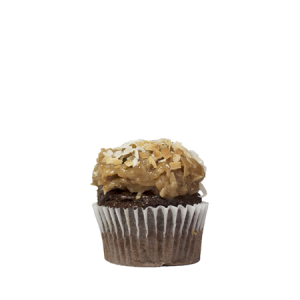 mini german chocolate cupcake