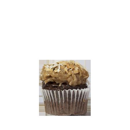 mini german chocolate cupcake