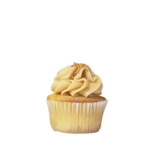 mini salted caramel cupcake