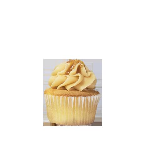 mini salted caramel cupcake