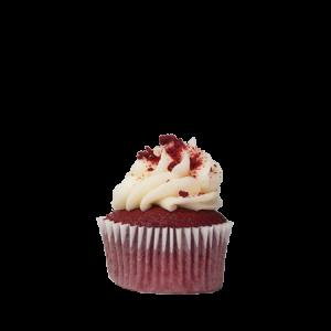 mini southern red cupcake