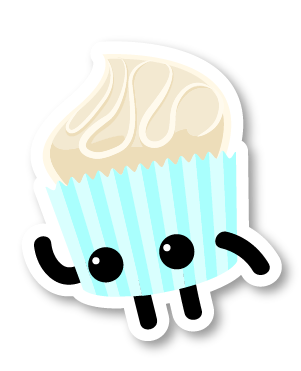 illustrated cupcake