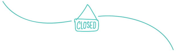 Closed sign drawing.